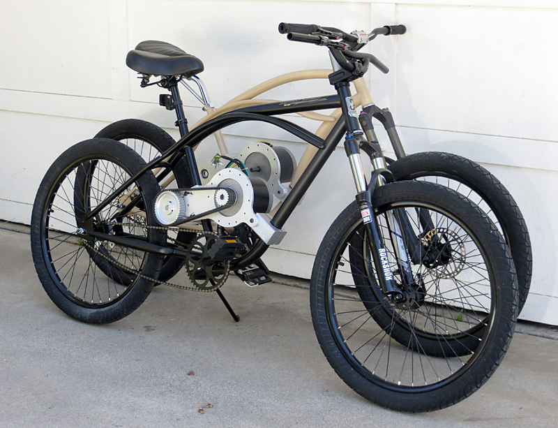 Mid-drive BBSHD electric bicycle kit on the Dyno+Bixby motored bikes