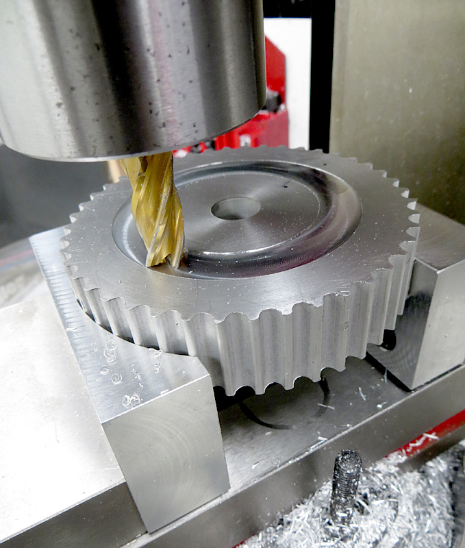 Pulley-Web-Machining