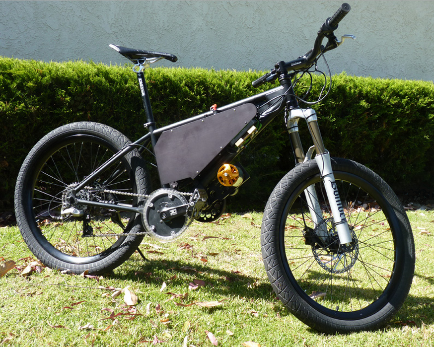 Mid-drive electric bicycle kit on the eCortina motored bike