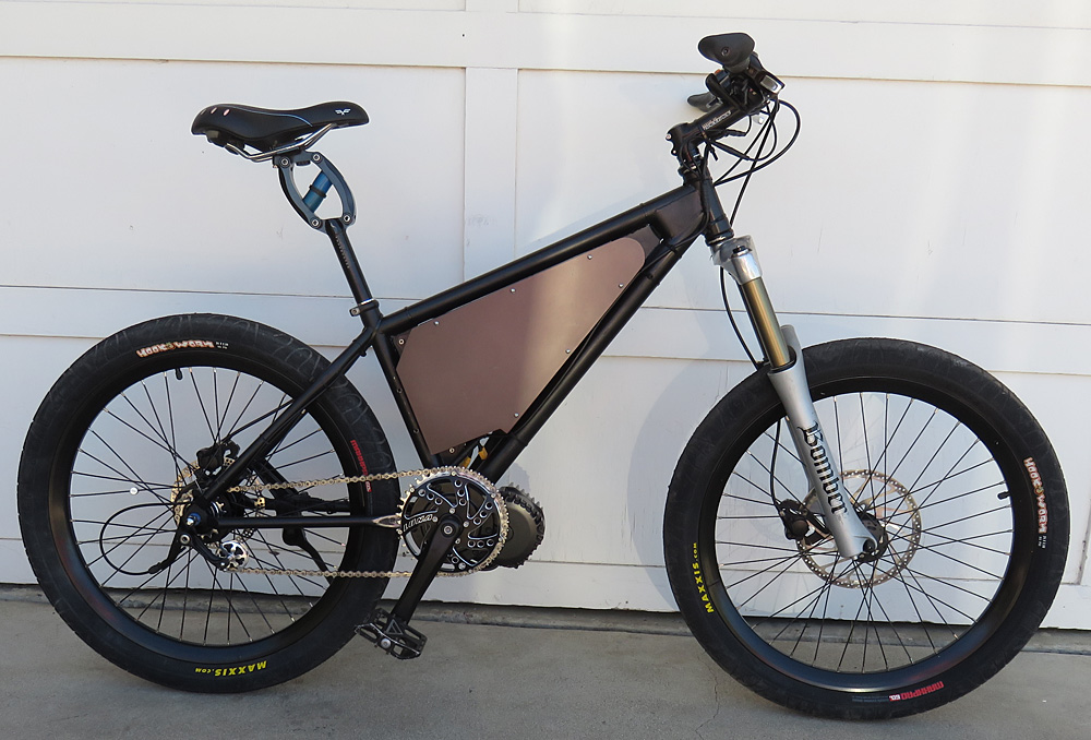 Mid-drive BBSHD electric bicycle kit on the eCortina motored bike