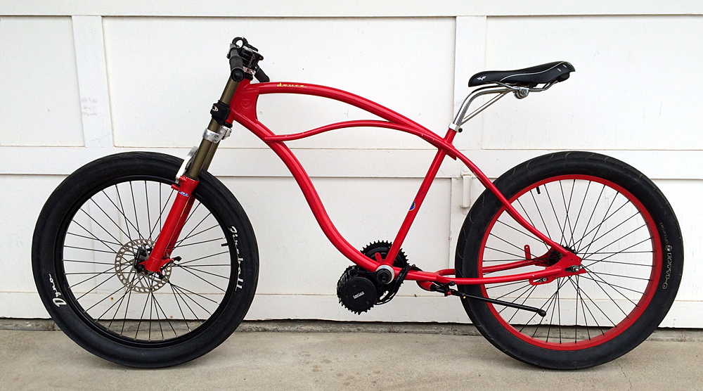 Mid-drive BBSHD electric bicycle kit on the eDYNO motored bike